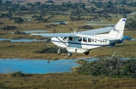 private botswana safari airplane access