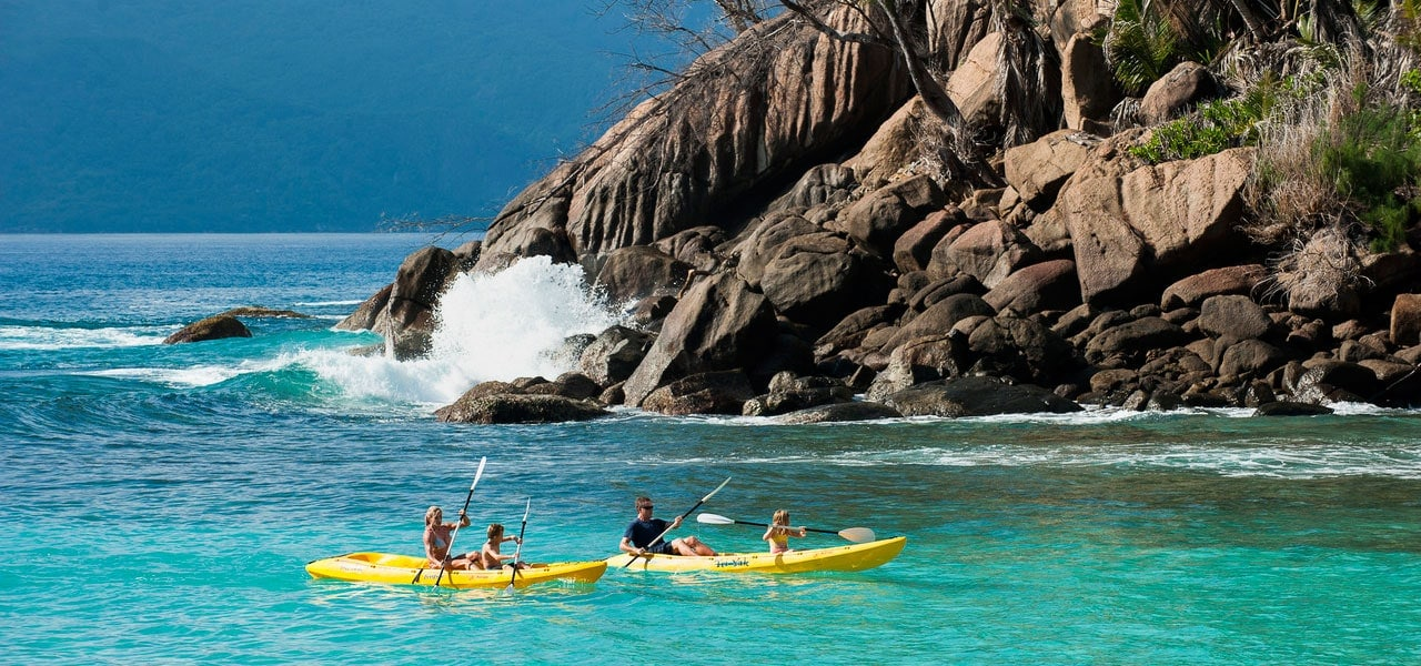 safari family kayak seychelles