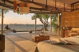 luxury lodging private Zambia safari