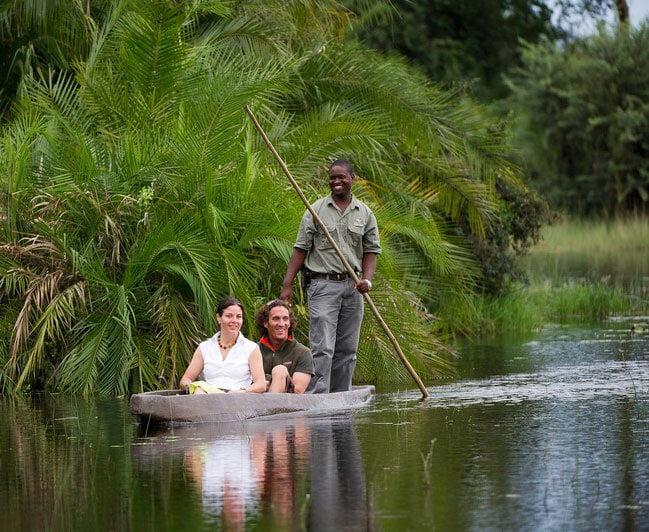 BOTSWANA: Glide along the crystal clear waters of the Okavango Delta